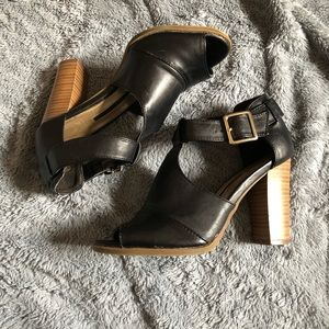 Black Chunky Heel Booties